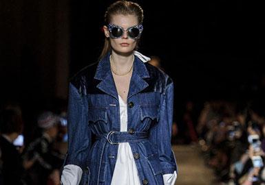 女装单品报告--牛仔防尘外套