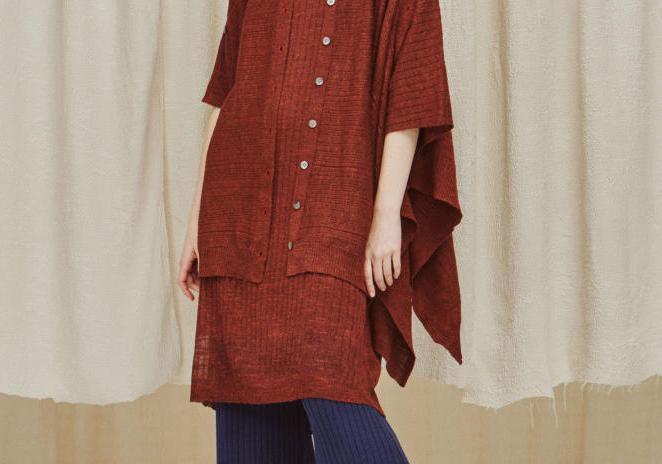 女式毛衫趋势速递--方巾形下摆