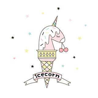 矢量圖 eps 獨角獸 局部圖案 冰淇淋 甜點 可愛卡通 休閑風
