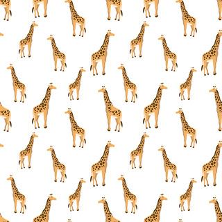 矢量圖 eps 滿身圖案 長頸鹿 休閑風 復古風