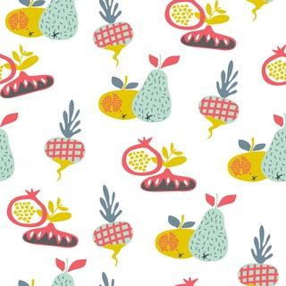矢量图 eps 水果 四方连续 满身图案 梨子 萝卜 卡通
