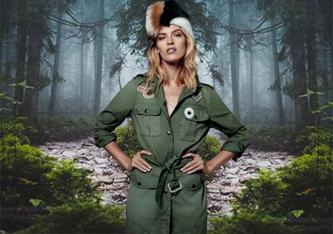《APM29》女裝--運動皮草之軍旅混搭(款式)