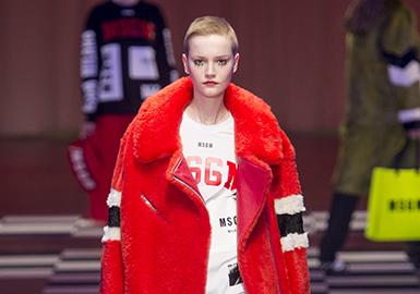 大红色是最具力量色的色彩,充满刺激与激情,堪称永不过时的经典;大红色以黑色的搭配一直被沿用,皮草大衣的性感与张扬,皮毛一体的青春与活力,不同配搭风格,都表达着女性不同的气质。