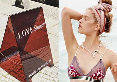 Love Stories 是新近面世的内衣品牌,出自才华横溢的荷兰设计师Marloes Hoedeman 之手,现在已经小有名气,因其驾驭了富有想象力的图案、运动类型以及戏剧化的设计。