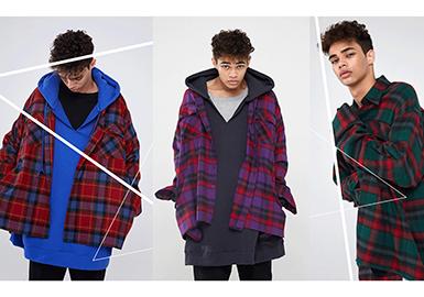 2018春夏男装订货会中,衬衫的色彩主要稳定在黑白灰之间,其次为蓝色系,尤其以深色的藏青等厚重的色彩为主,绿色系数量在蓝色之后,深色的橄榄绿,军绿等色彩也尤其受欢迎,在款式占比中,商务衬衫的数量是最多的,休闲大廓形衬衫也有明显的增多的表现,另外随着棉麻风的兴起,具有结构结构特色的衬衫以其丰富多样的穿搭风格被越来越多的人接受。