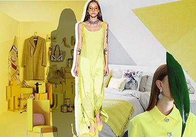 2019春夏女裝禮服色彩趨勢預測--黃色系