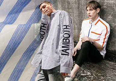 多元素混合下的男装街潮衬衣面料