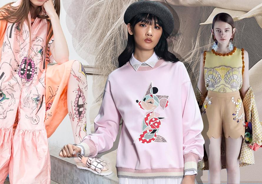 2020春夏女装图案工艺趋势预测--鬼马少女