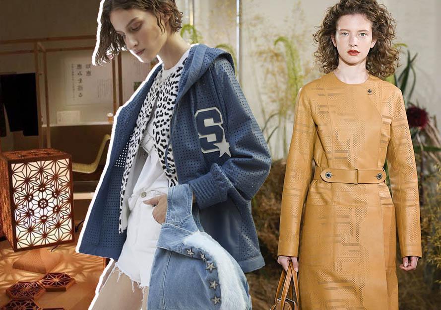 2020春夏女装皮衣工艺趋势预测--镭射镂空