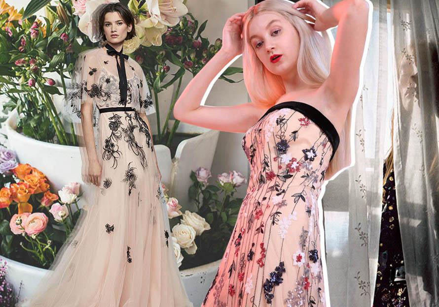 2020春夏女裝禮服刺繡工藝趨勢預測--繁花似錦