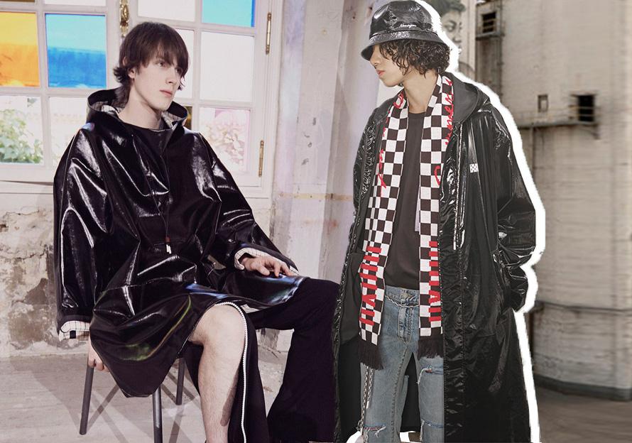 2020春夏男裝皮衣組貨搭配--新潮風衣