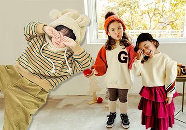 受男女装影响,工装风面料和元素的加入让童装外套实用性和功能性都有所提升。