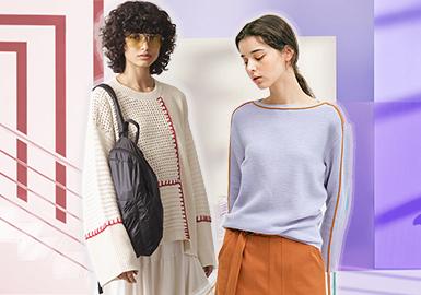 2020春夏女装毛衫工艺趋势预测--鲜明线迹