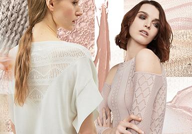 2020春夏女装毛衫细致针法--透视魅力