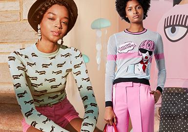 2020春夏女装毛衫图案趋势--女孩的畅想