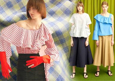 2020春夏女装上衣面料趋势--棉感条格