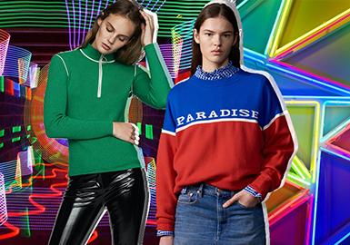 2020春夏女装毛衫色彩趋势-炫彩运动