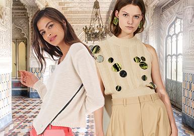 2020春夏女装毛衫辅料趋势--轻金属装饰