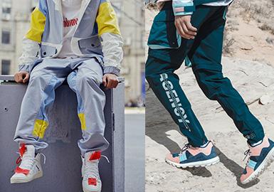 2020春夏男装廓形趋势预测--运动轻潮休闲裤