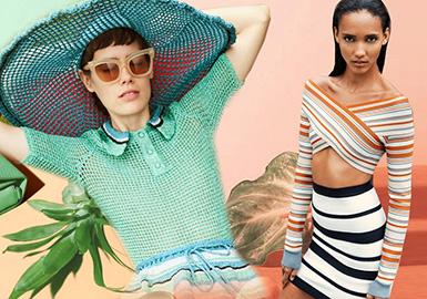 2020春夏女装毛衫色彩趋势--清新盛夏