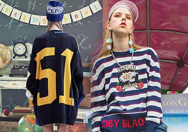 2020春夏女装毛衫图案趋势--青春返校季