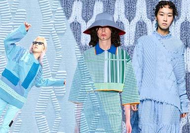 2020春夏女装毛衫针法趋势--趣味几何