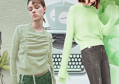 2020春夏女裝毛衫色彩趨勢--薄荷色系