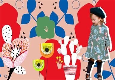 2020?#21512;?#22899;童童装图案趋势预测--色块花卉