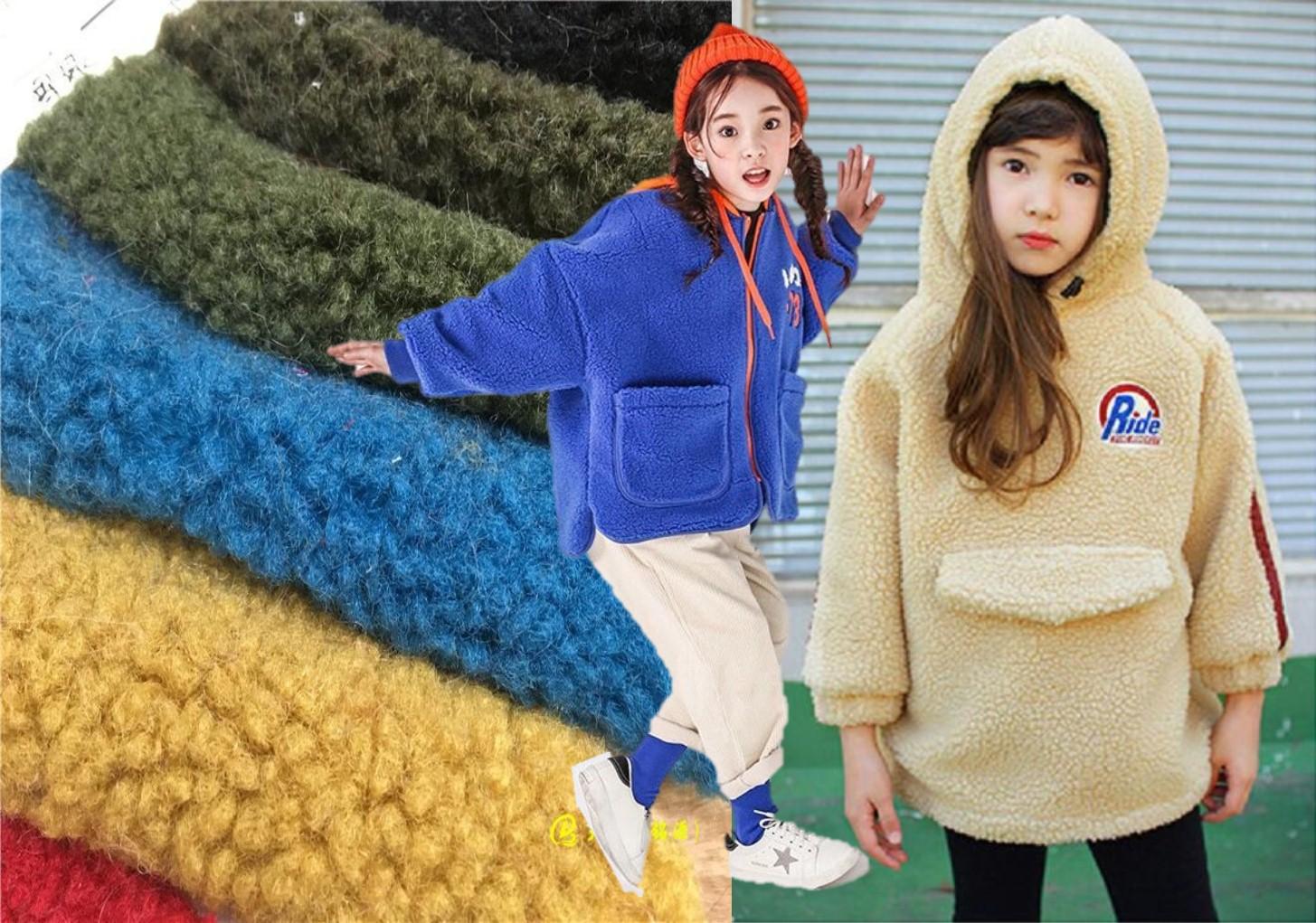 綜述 近兩年毛絨材質在時尚圈的火紅程度可是相當不一般,兼具了時尚、保暖舒適性,實用性強,被廣泛運用于童裝外套!