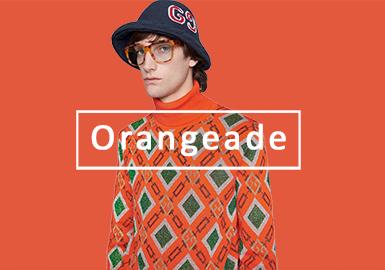 2020春夏男裝毛衫色彩演變趨勢預測--醒目橙