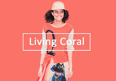 2020春夏女装毛衫色彩趋势--活力珊瑚