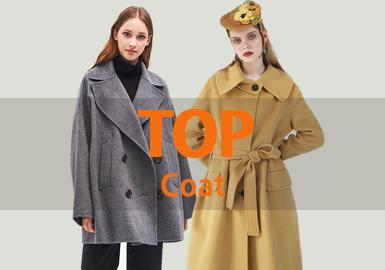 在十一月大衣的整体款式中中淑风格的大衣占据的大部分的比例,而整体的长度以长款为主,考虑小个子女性的需求短款和中长款的大衣占有一定的比重,超长款大衣淡出市场。