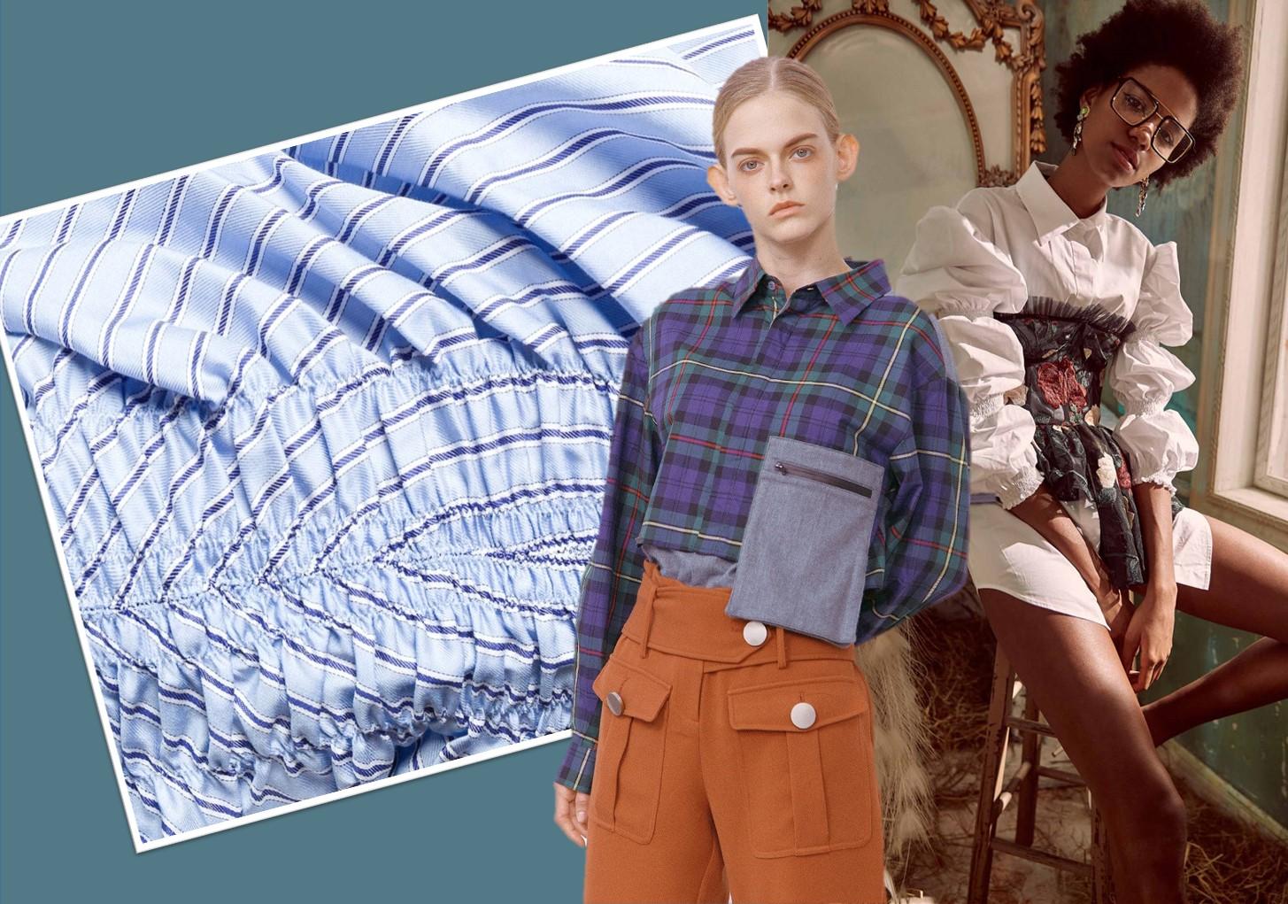 2020春夏女装衬衣面料趋势—复古条格