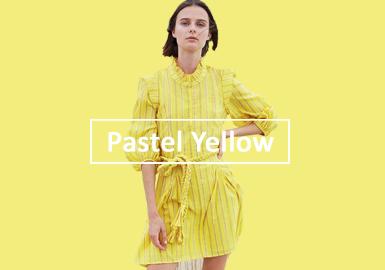 2020春夏女裝色彩演變趨勢預測--粉蠟黃