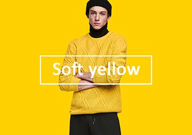 2020春夏男裝毛衫色彩趨勢預測--柔光黃