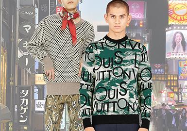18/19秋冬日本市场的毛衫图案整体风格偏向于时髦的街头感,特立独行但不过分张扬,用服装的设计语言来定义全新的日系风格。