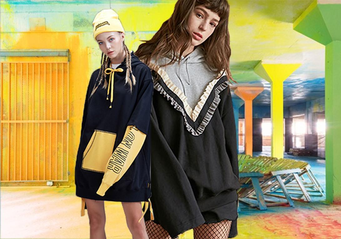 衛衣作為秋冬的時尚單品,運用多種元素細節改變了其單一的特性,風格更多元化。特別是新一代的消費者,寬松舒適、吸睛奪目成為他們對服裝的重要選擇標準。