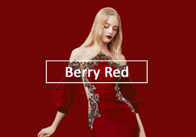 2020春夏女裝禮服色彩演變趨勢預測--果漿紅