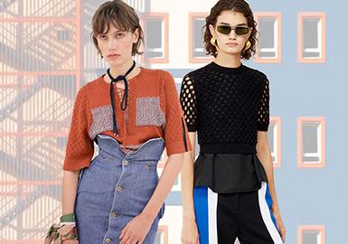 2020早秋女裝毛衫重點廓形趨勢--針織T恤