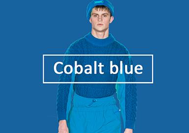2020早秋男装毛衫色彩演变趋势预测--活力钴蓝