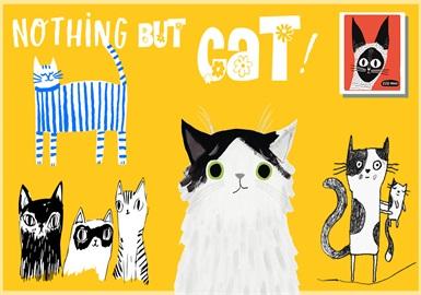 个性猫咪--童装图案趋势