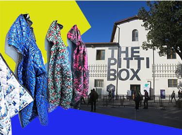 """第95屆Pitti Uomo進入了第30年頭,展會主題由生活創意家Sergio Colantuoni定為The Pitti Box,主會場Fortezza de Basso廣場臨時搭建的Pitti Show Box大盒子。在主題館劃分上,Pitti Uomo也通過場館設計來凸顯各館的獨立性,聚焦戶外機能性的品牌的戶外館I Go Out,街頭潮牌云集的Unconventional館,聚焦北歐品牌的Scandinavian Manifesto館,具有一定品牌知名度的""""Make""""主題館等等。"""