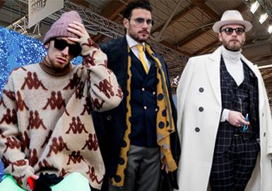 来到第 95 届的佛罗伦萨Pitti Uomo是世界上最重要的男裝展会,这次成功的关键在于传统与年轻化之间取得平衡,年轻设计师、街头文化、户外机能及可持续性成为传统男装以外的重要主题。而在这场被誉为聚集了全世界最帅男人的盛会上,街拍一直是男装风向标,也是助长Pitti Uomo话题热度的焦点环节。