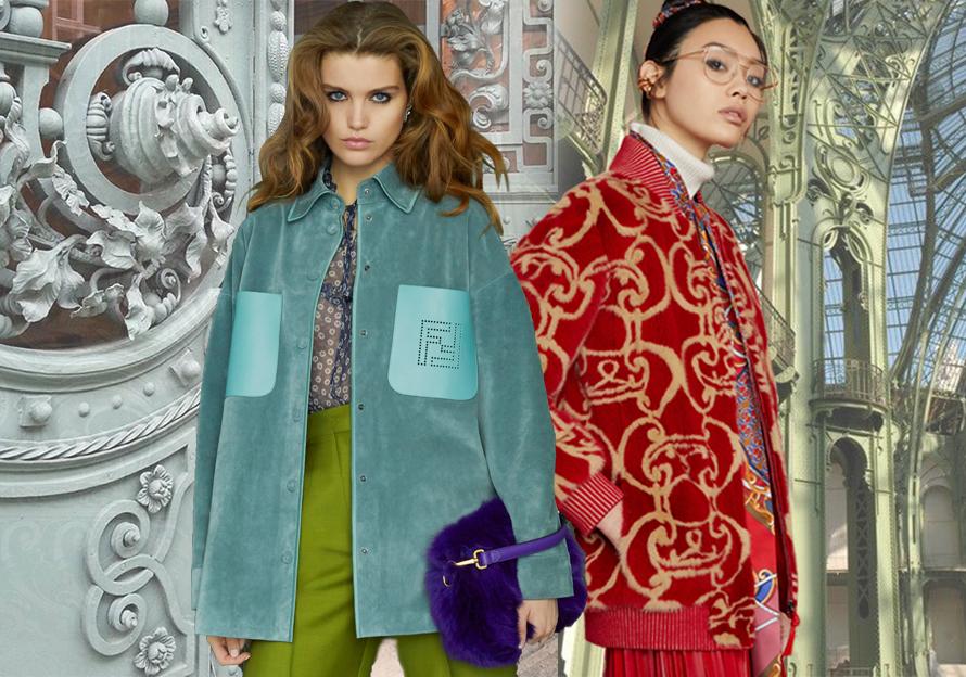 Karl Lagerfeld博学多才,Silvia Venturini Fendi创意无限,两位个性不同的设计师赋予了Fendi多元化的内涵。2019早秋,他们从19世纪的法国铁门书、日本和服古书中获得灵感。这一系列中曲线优美的巴洛克图形以及细微的异域图案,都是华丽装饰的艺术表现。