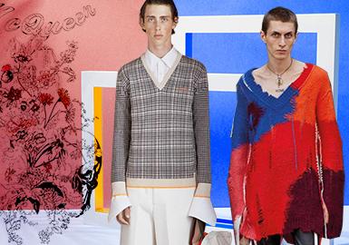 Alexander McQueen在本季秋冬男裝毛衫訂貨會中將經典骷髏、柔美又獨具力量的花朵、抽象具象兼具的靚麗風景以及獨特的昆蟲系列進行煥新演繹,將時裝注入一股自然的治愈之力。