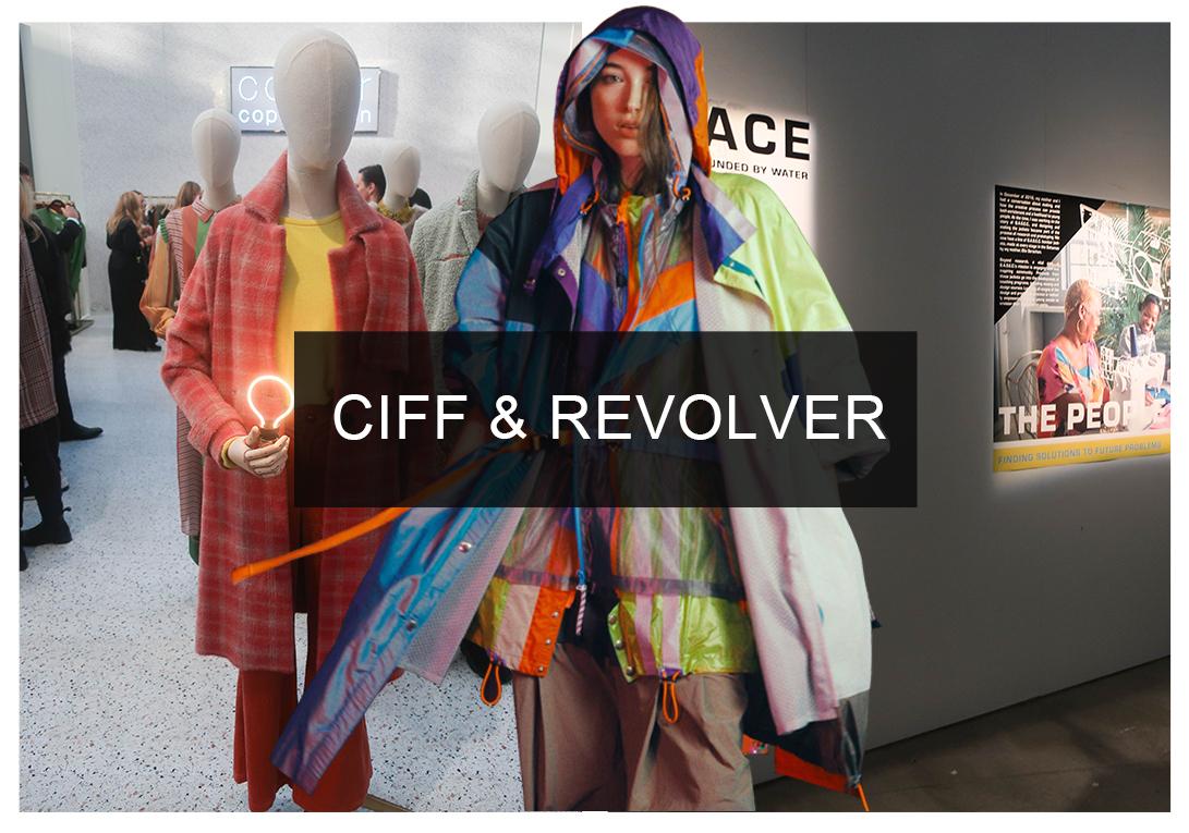 北歐設計成為當今潮流備受追捧的時尚地,19/20秋冬CIFF和Revolver展會也就成為不容錯過的關鍵趨勢展會。展會中以往的經典北歐設計,開始顯著偏離極簡主義潮流,自信的撞色和個性的印花成為秋冬的關鍵,運動混搭造型融合俏皮元素和創意廣告語言,帶來復古造型感的新千禧和Z世代運動裝,展會整體的風格偏離了陰郁的90年代,從千禧年代尋找靈感,現代技術、烏托邦未來設計等,搭配亮澤表面、性能等面料,千禧潮的語言去探索閃亮新青年的著裝概念。