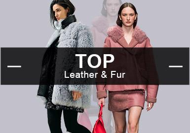 基于POP用户下载互动数据,综合评选出女装皮革皮草单品TOP热榜。在2月榜单中,皮衣皮草款式以俄罗斯风格和简欧中淑为主导,占总体比例较1月都有上升,先锋潮风格较1月下降最多。拼接是运用最多的工艺,皮棉羽绒和羊剪绒依旧受市场欢迎。款式上以大衣和棉服为重点。