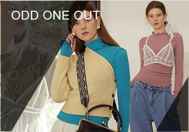 """ODD ONE OUT是由P-RPROJECT推出的韩国创意设计师品牌,品牌名称中译是""""格格不入""""和""""与众不同"""",宗旨是为了那些追求与众不同又爱时髦的消费者而诞生。服饰的裁剪非常独特,一衣三穿、不对称、以及大胆独特的搭配风格是ODD ONE OUT不同于其他品牌的主要特点。"""
