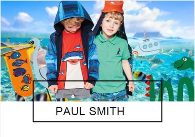 于2010年建立的英国童装品牌Paul Smith致力于为孩?#29992;?#21019;造有趣、独特的服装。在19?#21512;?#31995;列中,Paul Smith?#26377;?#19968;贯的英式趣味,从男孩们钟爱的海?#36164;?#30028;、侏罗纪等元素中进行挖掘,进行了一场天马行空的奇妙探索。