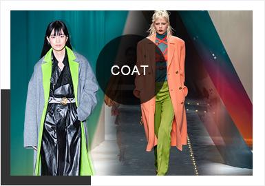 從剛剛過去不久的19/20秋冬四大時裝周我們發現,大衣色彩、廓形、細節工藝點都呈現更加多元的變化,異料拼接、撞色拼接以及量感落肩設計等,都為當下女性帶來更加睿智與知性的魅力。